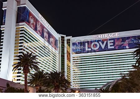 The Mirage Hotel, Las Vegas Nevada Usa, March 30, 2020