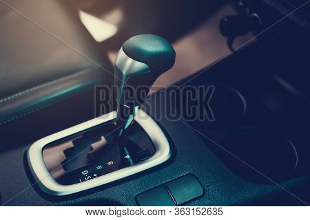 Automatic Gearbox Lever; Automatic Transmission Gearshift Stick Close-up View