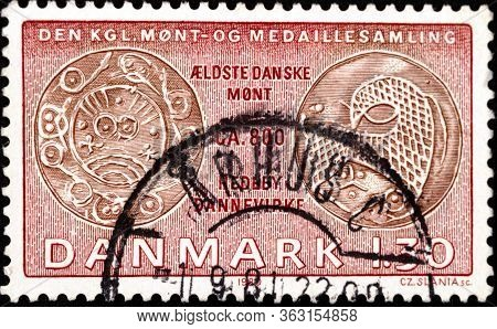 02 08 2020 Divnoe Stavropol Territory Russia The Denmark Postage Stamp 1980 Coins On Stamps - From T