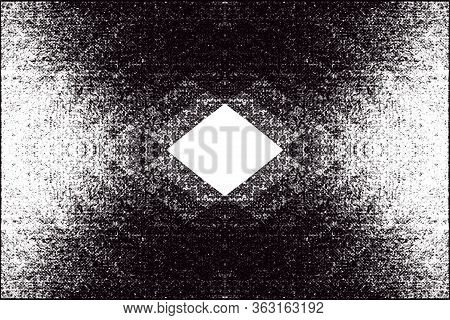 Black And White Geometric Background. Color Dispersion. Template For Presentations, Banners, Flyers,