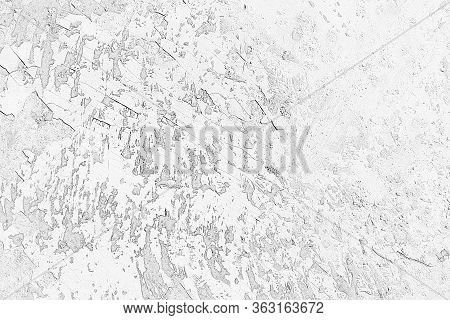 Gray Background, Sketch Of A Damaged Surface.  Background For Presentations And Web Design.