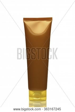 A Tube Of Sunscreen. Safety In The Sun. Beach Protection. Cosmetic.