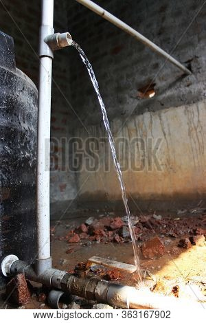 Leaking Pipe. Broken/leaking Water Pipe, Construction, Industry, Hydroelecindonesia