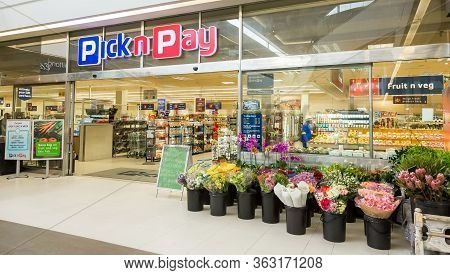 Entrance To Local Pick N Pay Supermarket Grocery Store