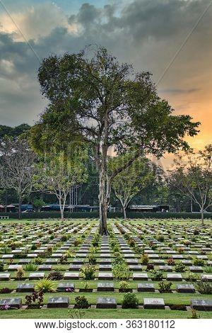 Kanchanaburi War Cemetery Or Don-rak War Cemetery