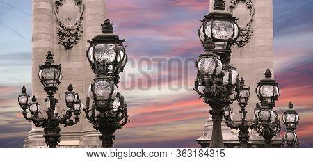 The Alexander Iii Bridge (fragment) - Paris, France