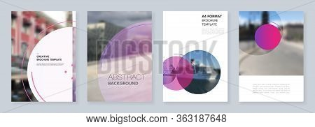 A4 Brochure Layout Of Covers Design Templates For Flyer Leaflet, A4 Brochure, Report, Magazine Cover
