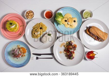 Set Of Peruvian Food