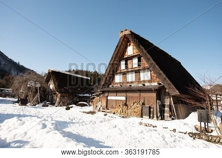 Winter In Shirakawa-go In Japan. Shirakawa-go In Japan.