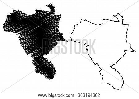Nimes City (french Republic, France) Map Vector Illustration, Scribble Sketch City Of Nimes Map