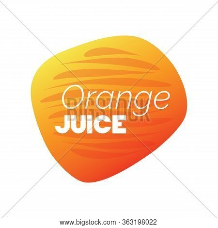 Orange Juice Icon. White Vector Sign Isolated. Illustration Symbol For Drink, Product Sticker, Packa