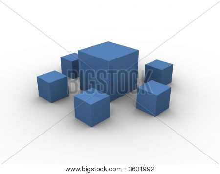 Blue Boxes Pattern 2