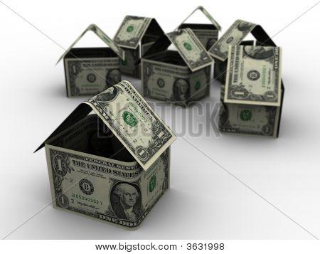 Dollar Houses In 3D