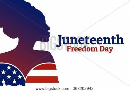 Juneteenth, June 19. Holiday Concept. Template For Background, Banner, Card, Poster With Text Inscri