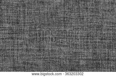 Closeup Black ,dark Grey Color Fabric Sample Texture Backdrop. Dark Grey Fabric Strip Line Pattern D