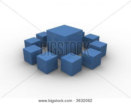 Blue Boxes Pattern 3