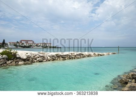 The View Of Nassau City Canal As An Exit On Sandyport Beach To Caribbean Sea (bahamas).