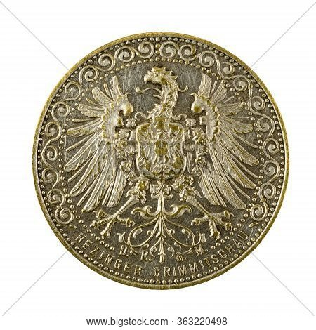 Historical German Token For Inpayment Reverse Isolated On White Background