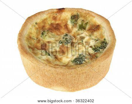 Broccoli Cheese and Tomato Quiche