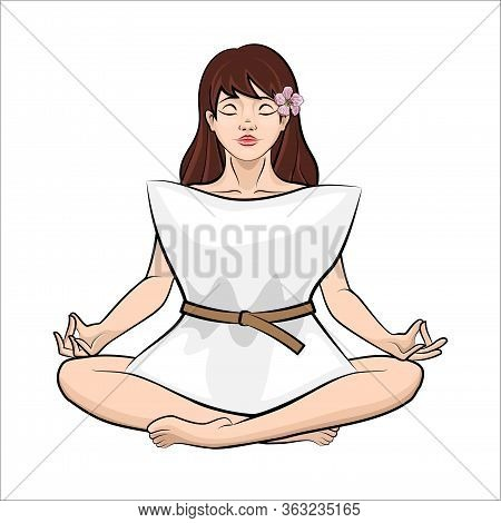 Girl With Pillow Dress. Quarantine Pillow Challenge. Trendy Fashionable Challenge, With A Pillow Ins