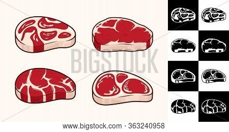 Vector Steak Icons Collection