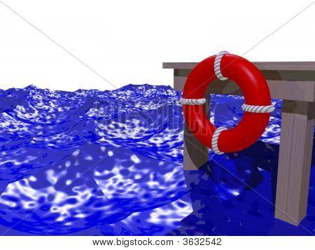 Dock In Rough Water