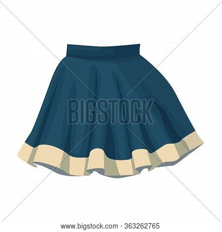 Skirt Vector Icon.cartoon Vector Icon Isolated On White Background Skirt.