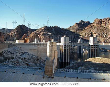 Hoover Dam On The Nevada Arizona Border