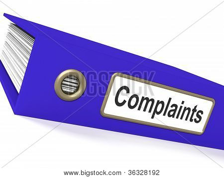 Complaints File Showing Complaint Reports And Records poster