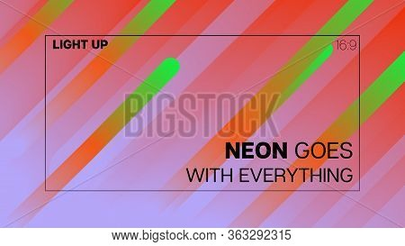 Funky Neon Blend Vector Background. Pearlescent Noble Vector Color Overlay. Liquid Neon Bright Trend