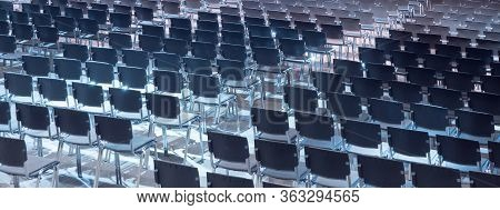 Indoor Business Conference. Empty Conference Hall. Hall For Business Meeting. Interior Of A Congress