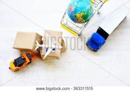 Logistics Transport Import Export Shipping Service Customers Order Things From Via Internet Internat