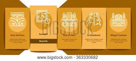 Earthquake Disaster Onboarding Mobile App Page Screen Vector. Building And Road Destruction, Stone C