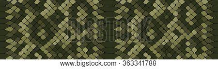 Snake Skin Seamless Drawing. Reptile Seamless Texture. Animal Print. Vector Pattern