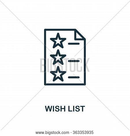 Wish List Icon. Line Style Simple Element From E-commerce Icons Collection. Pixel Perfect Simple Wis