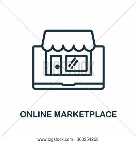 Online Marketplace Icon. Line Style Simple Element From E-commerce Icons Collection. Pixel Perfect S