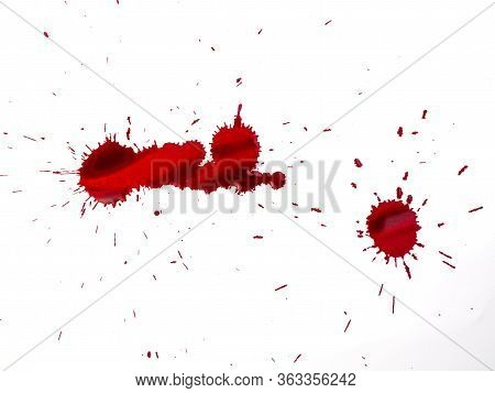 red colorl drops. Paint dripping. Dripping liquid.. abstract paint splatter. paint splash set. Color