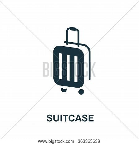 Suitcase Icon. Simple Illustration From Vacation Collection. Creative Suitcase Icon For Web Design,