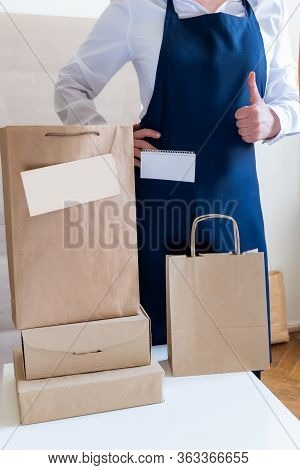 Worker Delivery Service Packing Bag Box Apron Packer Ok