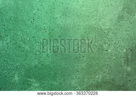 Beautiful Teal, Sea-green Dotted Grungy Plaster On The Block Texture - Abstract Photo Background