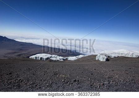Glacier On The Mount Kilimanjaro In Africa