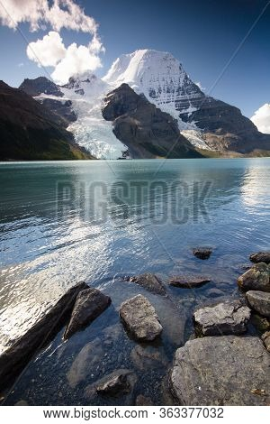 Mountain Robson And Berg Lake - Jasper National Park, Rocky Mountains, Canada