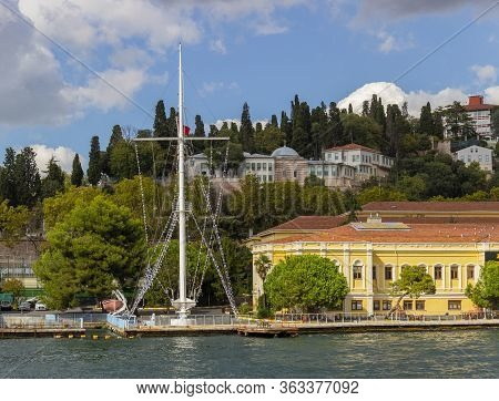 Istanbul, Turkey - October 6, 2019: View On Ziya Kalkavan Vocational And Technical Anatolian High Sc