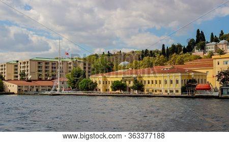 Istanbul, Turkey - October 6, 2019: Ziya Kalkavan Vocational And Technical Anatolian High School. Lo