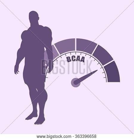 Gradient Scale. Bcaa Level Measuring Device Icon. Sign Tachometer, Speedometer, Indicators. Infograp