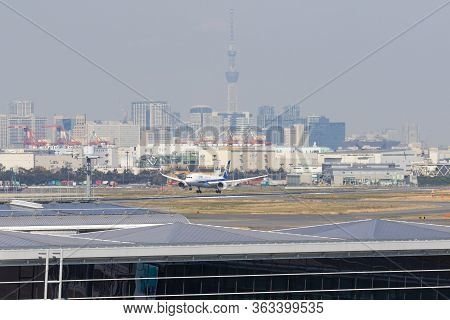 All Nippon Airways (ana) Airplane In Tokyo