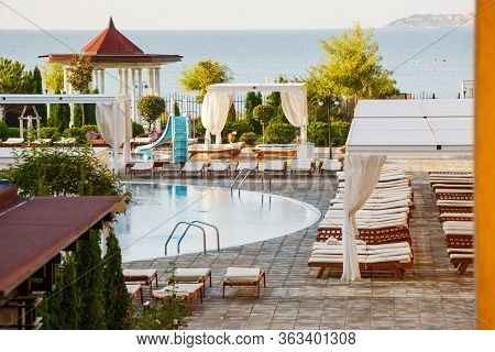 Luxury Place Resort And Spa For Vacations. Summer Holiday In The Hotel.