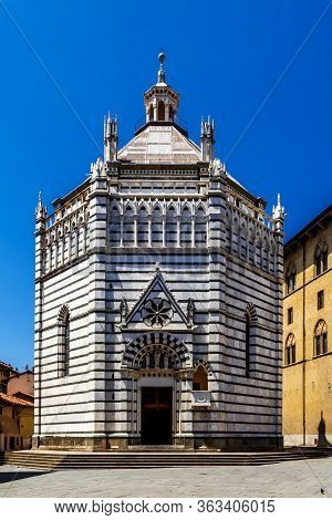 The Battistero Di San Giovanni In Corte In Pistoia, Tuscany, Italy. Also Known As The Baptistery Of