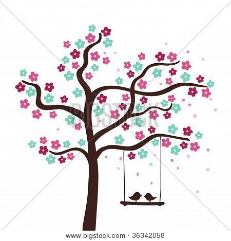 Flower love tree