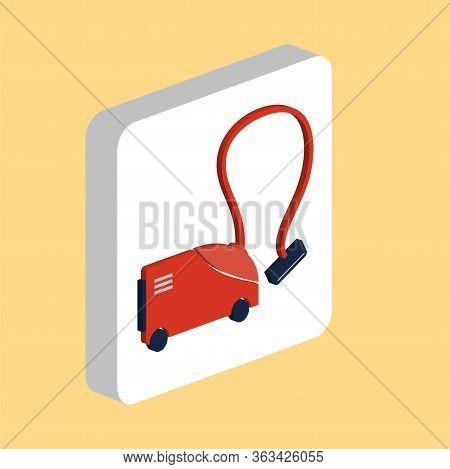 Vacuum Cleaner Simple Vector Icon. Illustration Symbol Design Template For Web Mobile Ui Element. Pe